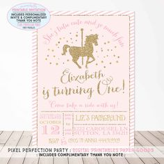 Hey, I found this really awesome Etsy listing at https://www.etsy.com/listing/243676903/carousel-birthday-invitation-carousel