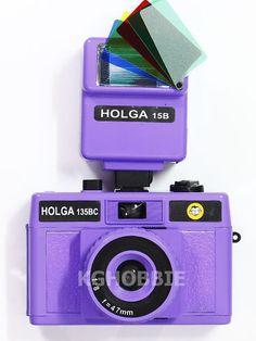 New Holga 135 35mm LOMO Camera Purple w Flash eBay