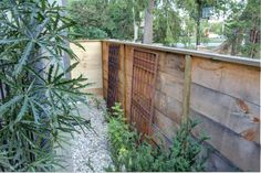 front porch horizontal fence | Pine Fence 4