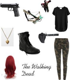 """An Other Walking Dead Outfit :)"" by cecemmcdowell ❤ liked on Polyvore"