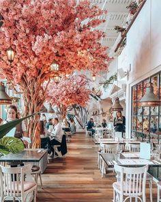 The Florist Watford - Intu Watford, UK 📷: london Bakery Design, Cafe Design, Coffee Shop Aesthetic, Flower Cafe, Garden Cafe, Kuching, Cafe Shop, Restaurant Interior Design, Shop Interiors
