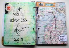 Map Crafts - Gift Ideas - A grand adventure is about to begin! Scrap book your adventures! Find the maps you need here www.mapsales.com/