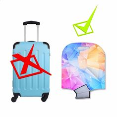 Thickened Luggage Protector Cover High Elastic Spandex Washable Anti-Scratch Travel Suitcase Protective Covers Flamingo Tropical Leaves Flowers Fits 18 To 32 Inch