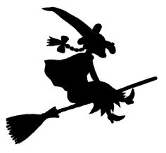 Room On The Broom Pumpkin Stencil Template Halloween-No Kitty