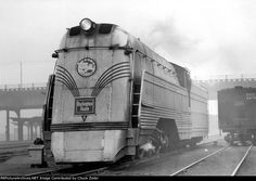 "Chicago Burlington & Quincy R.R. streamlined  4-6-4 Class S-4-A 4000, named ""Aeolus""   Built by Baldwin Locomotive Works"