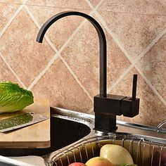 Antique Oil Rubbed Bronze Finish Solid Brass Single Handle Kitchen Faucet At FaucetsDeal.com