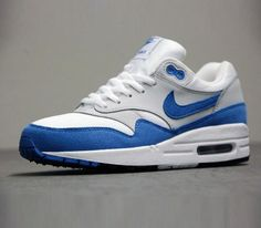 Nike Air Max 1 QS White Varsity Blue Grey Black Shoes