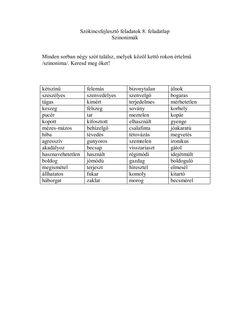 Szókincsfejlesztő feladatok Grammar, Vocabulary, Tarot, Teaching, School, Schools, Vocabulary Words, Teaching Manners, Tarot Decks