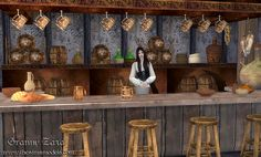 The Sims Models: Medieval tavern set by Granny Zaza • Sims 4 Downloads