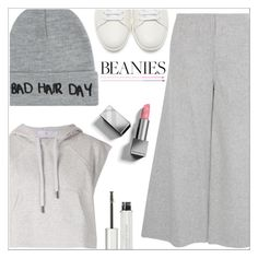 """Bad hair day"" by simona-altobelli ❤ liked on Polyvore featuring adidas, Yves Saint Laurent, Local Heroes, Theory, Givenchy, Burberry, monochrome, grey, MyStyle and beanies"