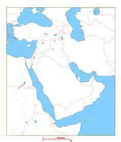 blank map of middle east