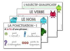 Affichages en grammaire et orthographe - La caverne d'Alisette