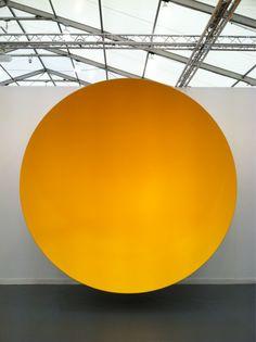 "jeffdtaylor: "" Anish Kapoor, (Untitled), 2010 @ Frieze Art Fair NYC (Photo: May "" Modern Sculpture, Sculpture Art, Frieze Art Fair, Anish Kapoor, Illustration Art, Illustrations, Mellow Yellow, Color Yellow, Installation Art"