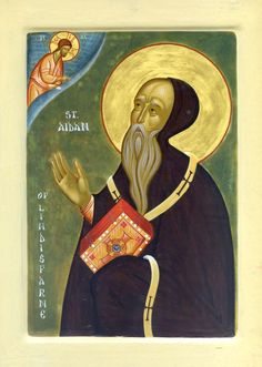 King Oswald asked Irish Saint Aidan (7th cent), a monk at the monastery of St Columba, to convert Northumbria. The king gave him the island of Lindisfarne, and the saint founded a famous monastery. Once, when the two dined together, a servant said many poor people waited outside. The king ordered all their food be given them, including the silver plates, which would be broken up for them. Saint Aidan prayed Oswald's generous right hand may never perish. It was incorrupt for centuries. (Aug…