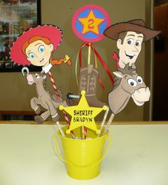 Deluxe Toy Story Birthday Centerpiece,  Western Birthday for Cowboy or Cowgirl on Etsy, $24.00