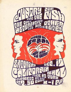 12/17/1966 ...... California Hall ..... This poster was used to promote a benefit for LEMAR- the organization that promoted the legalization of marijuana ....Country Joe and the Fish ....The Only Alternative and His Other Possibilities  ... artist ..... TOM WELLER