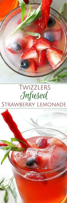 Twizzlers Infused Strawberry Lemonade A completely delicious and refreshing twist on strawberry lemonade… perfect for any occasion! Smoothies, Smoothie Drinks, Smoothie Recipes, Drink Recipes, Strawberry Lemonade, Strawberry Recipes, Lemonade Drink, Blueberry Lemonade, Strawberry Blueberry