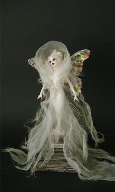 """Vampire Faerie Bride"" doll by Nicole West."