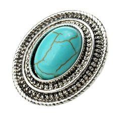 Qise Women's Inlaid Oval Turquoise Stud Earrings   Amazon.com