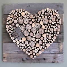 Pallet Wood and Sticks Valentine's Heart...this is so cute I would want to paint it.