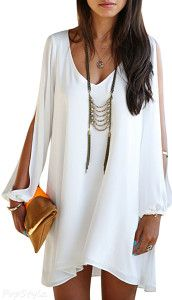 Viwenni Womens Summer Chiffon Short Beach Dress