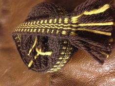 Brown & Yellow strap