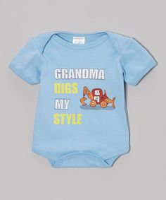Love this Blue 'Grandma Digs My Style' Bodysuit - Infant by Mon Cheri Baby on #zulily! #zulilyfinds