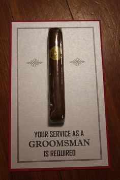 Will You Be My Groomsman Best Man Usher Junior Jr groomsman groomsmen Cigar Card 1 Color on Etsy, $2.50