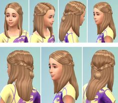 Sims 4 CC's - The Best: Little Ronja Hair for Girls by Birksches