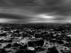 Scenery, Landscape, Sea, Beach, Pebbles, Stones, Sky, Clouds, Mood, Moody, Atmosphere, Scenic, Dreamy, Black and White, Sheena Duckworth Photography