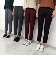 Trendy Ideas For Sneakers Outfit Women Black Mode Outfits, Casual Outfits, Fashion Outfits, Fashion Clothes, Dress Outfits, Dress Pants, Slacks Outfit, Prom Dresses, Dress Prom