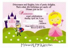 Princess and Knights Party