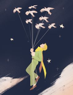 The Little Prince by Jillian Andre Little Prince Quotes, The Little Prince, Famous Book Quotes, New Years Eve Party, Funny Design, Pictures To Paint, Happy Campers, Fairy Tales, Illustration Art