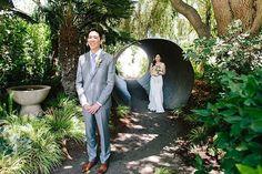 So many #firstlook photo opportunities at #Cornerstonegardens || Venue: @ | Planning  Design: @lrelyeaevents | Catering: @ramekinssonoma | Photography: @zelophotography | Wedding Pie: @petalumapie | Photobooth: @nightowlpb | Rentals & Lighting: @encoreeventsrentals | Gelato Cart: @| Oyster Vendor: @hogislandoysterco | Music: @bigfundj