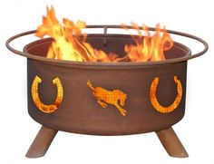 $235.00 (CLICK IMAGE TWICE FOR UPDATED PRICING AND INFO) Patina - F105 - Horseshoe Fire Pit Grill - Rust - 24 in.  - See More Outdoor Fire pits at http://www.zbuys.com/level.php?node=3903=outdoor-firepits