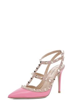 VALENTINO  Rockstud Sling Back T.100 in Passion #shoes shoes shoes #sandals sandals pink pastel