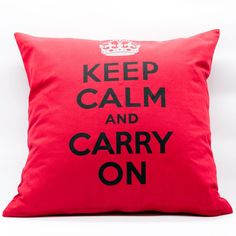 "Some Mondays are just not so easy to ""KEEP CALM AND CARRY ON"". Double Tap if you agree! . #cushioncover #cushion #cover #red #redcushioncover #calm #carryon #monday #thaicraftmanship #homeatmosphere #homedecor #thaihomedecor #homewares #homeaccessories #homeacctents #giftideas #homeaddictions"