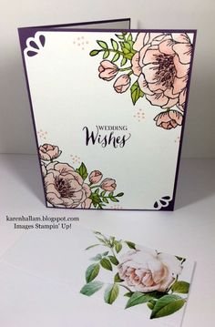 Karen's Stampin' Habit!: Birthday Blooms for a Wedding Card