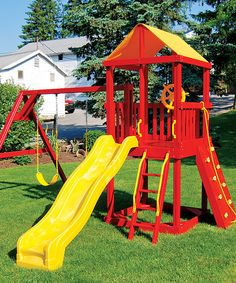 A&L Furniture Red & Yellow Kids Swing Set | zulily