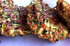 Avocado Dill Dip Crunchy Zucchini Fritters