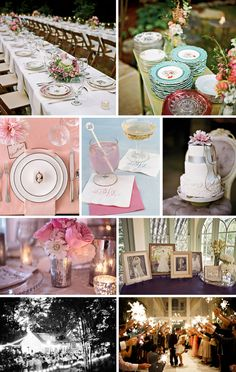 Delicate pinks, From Southern Weddings Magazine