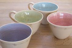 Ceramic Porcelain Green Daisy Cup - ceramics, pottery £22.00