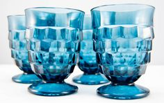 Glass Goblets from Dear Macy Vintage on Etsy