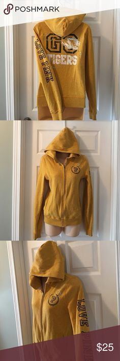 Victoria's Secret Missouri Tigers Small in really good used condition, refer to pic of inside material, does look pretty worn there but that you cannot see. Victoria's Secret Jackets & Coats