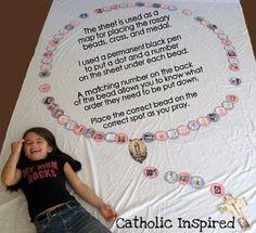 Pro-Life Active Rosary ~ A craft, activity and prayer - Catholic Inspired