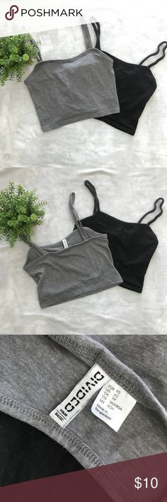 Bundle of H&M Basic Crop Tops - Great used condition, worn once  - Flattering cut and length - Style with skirts, high waisted jeans, etc.   ⭐️ Make an offer - I'll accept or counter! H&M Tops Crop Tops