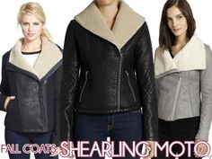 Fall Coats: Shearling Moto Jackets