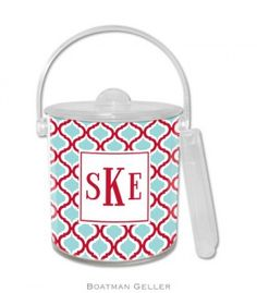 Festive Kate Red & Teal Ice Bucket from Boatman Geller on Bailey Bea for $55