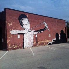 Chris Stain New Mural @ Sheboygan, USA