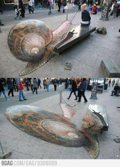 I love me some street art...and interesting how perspective plays a hand!